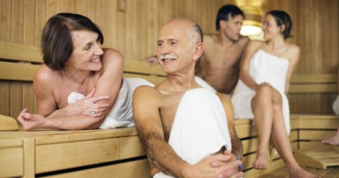 Is it Safe for Elderly Family Members to Use the Home Sauna Picture