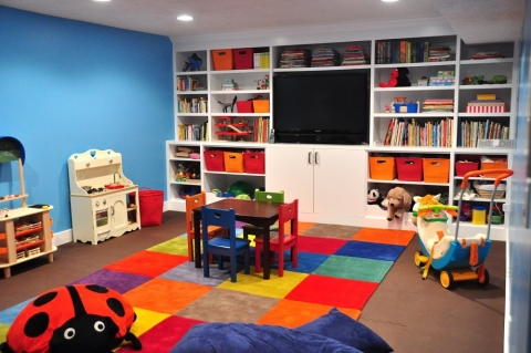 How to Turn the Basement into a Playroom Picture